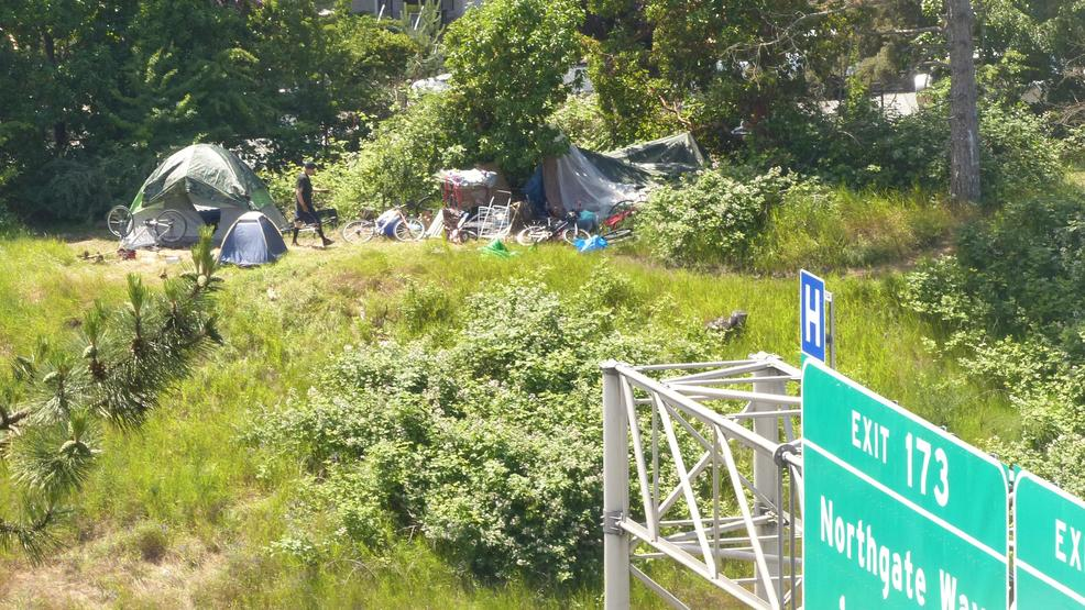 Seattle homeless I-5 Greenlake camp.JPG