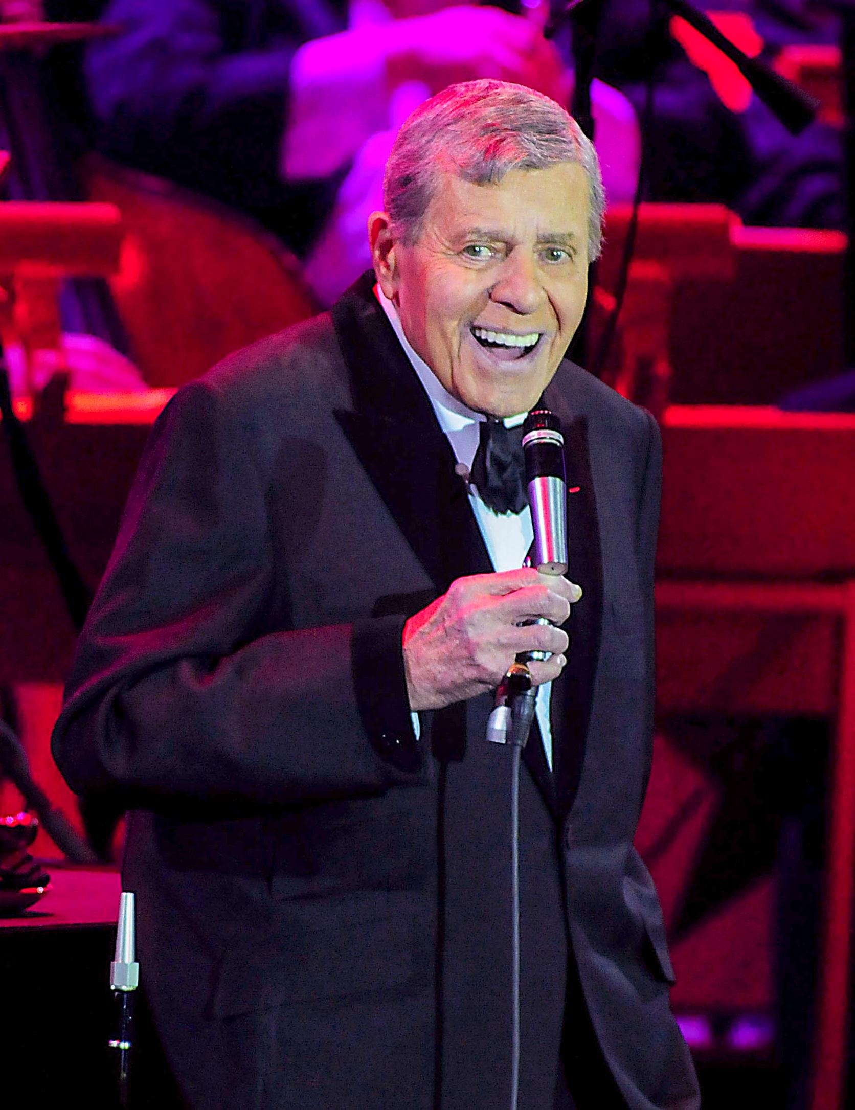 Jerry Lewis performs An Evening with Jerry Lewis- Live from Las Vegas PBS Television Special celebrating 75 years in show business at The Orleans Hotel & Casino Showroom in Las Vegas, Nevada November 18, 2012. CREDIT: Las Vegas News Bureau