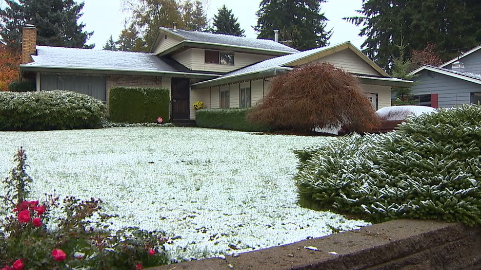 Sunday's skiff of snow enough to count as second-earliest in Seattle history