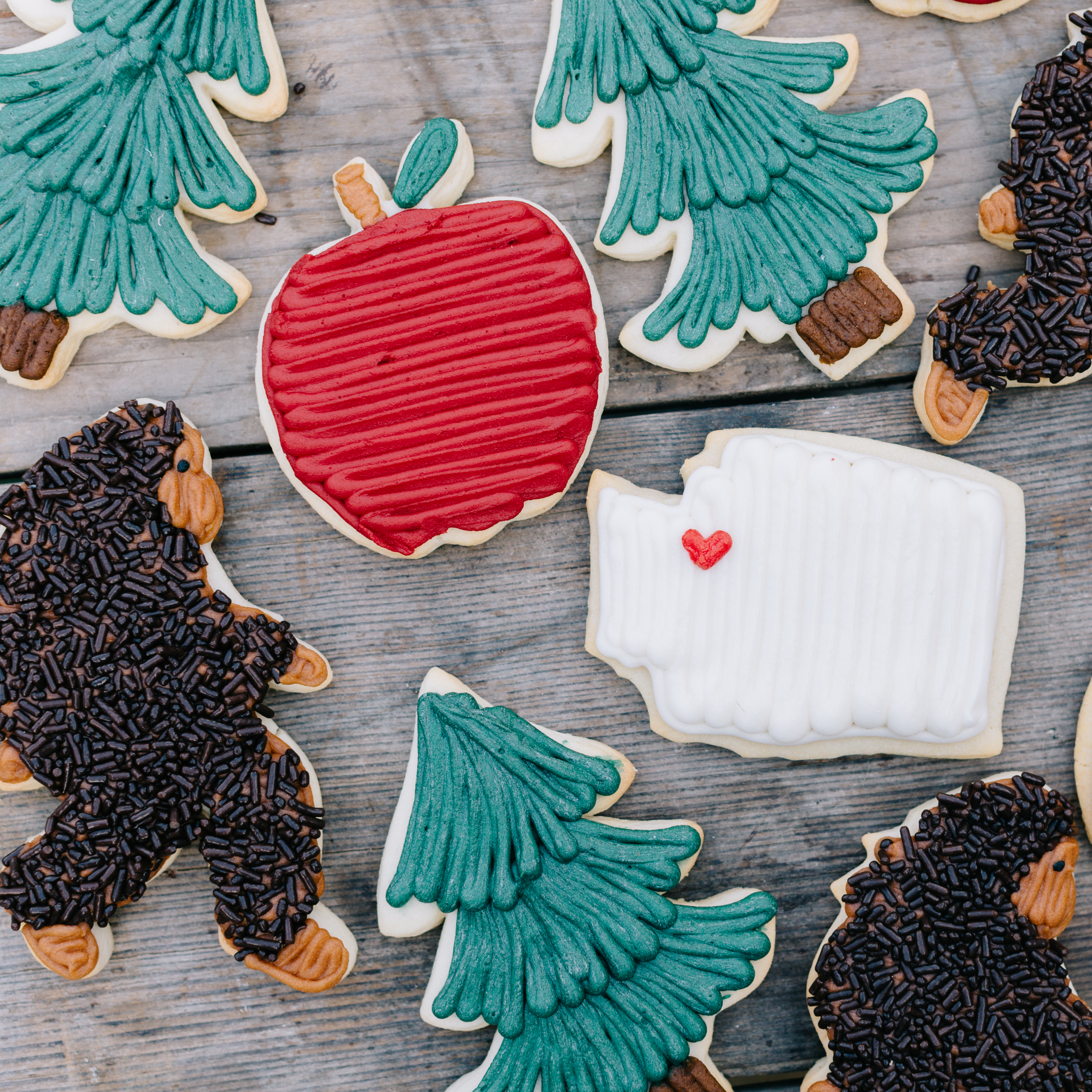 "Jenny Cookies recently released her #PNW inspired treats and we are saying ""Ahhhhhh HOW CUTE!"" We are proud PNW'ers here at Seattle Refined so we think these are the cutest treats west of the Mississippi and just had to share! Be sure to follow Jenny on instagram where she posts tons of cute pics of her cookies, cakes, and confections! @jennycookies. Jenny Cookies Bake Shop is located in Lake Stevens, WA at 12420 20th St NE, Lake Stevens. (Image: Kelly Clare Photography)"