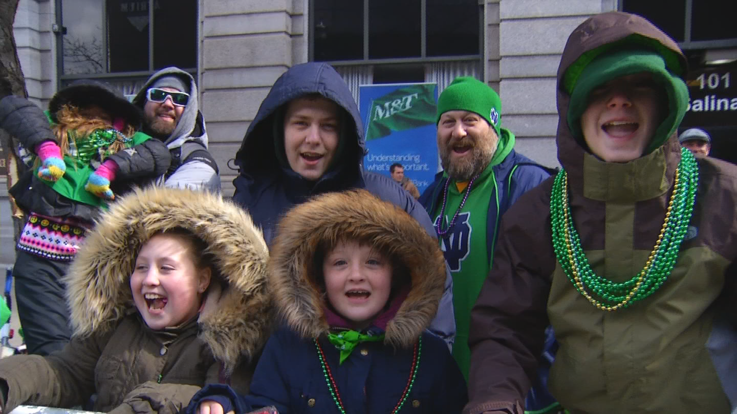 St. Patrick's Day Parade in downtown Syracuse (CNYCentral Photo)