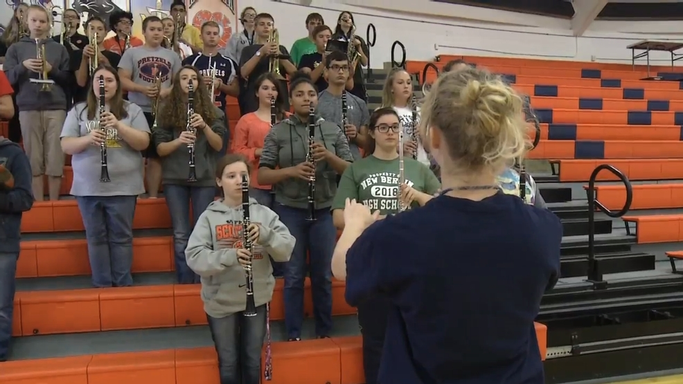 New Berlin Band Plays School Song