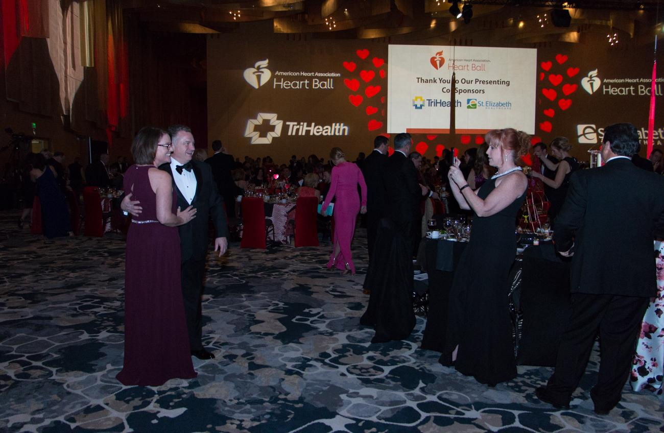 The 2019 Cincinnati Heart Ball was held at the Duke Energy Convention Center on Saturday, March 2. The American Heart Association, whose mission is to promote healthier and longer lives through efforts in community awareness, puts on the event every year. The evening included a silent auction, a live auction, and plenty of tasty food and cocktails in between. / Image: Lacey Keith // Published: 3.3.19