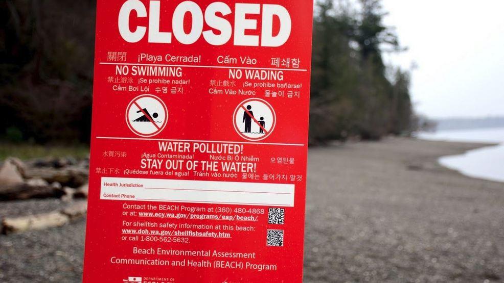 Whidbey Island Beach Closure