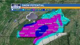 Friday Latest: Seasons first winter weather moves into the region