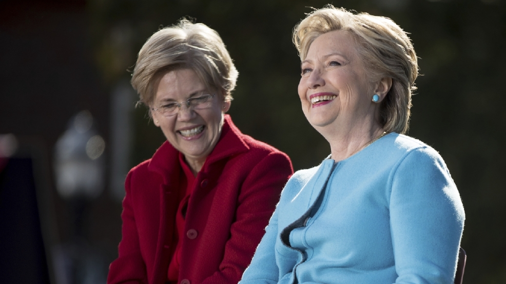Clinton, Warren join forces in campaign's final stretch