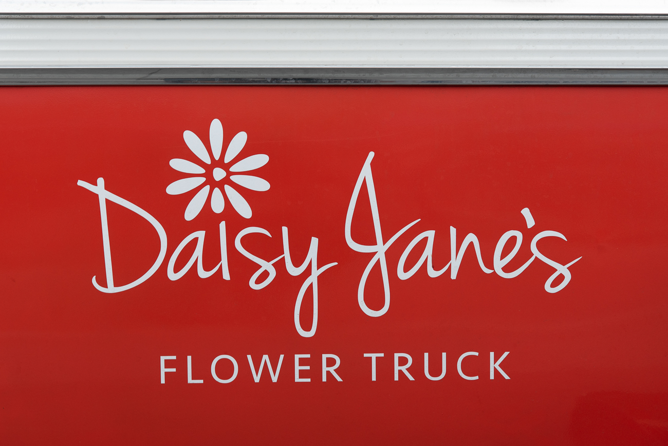The Daisy Jane logo is emblazoned upon the door of the 1965 Ford E100 truck. / Image: Phil Armstrong, Cincinnati Refined // Published: 5.5.19