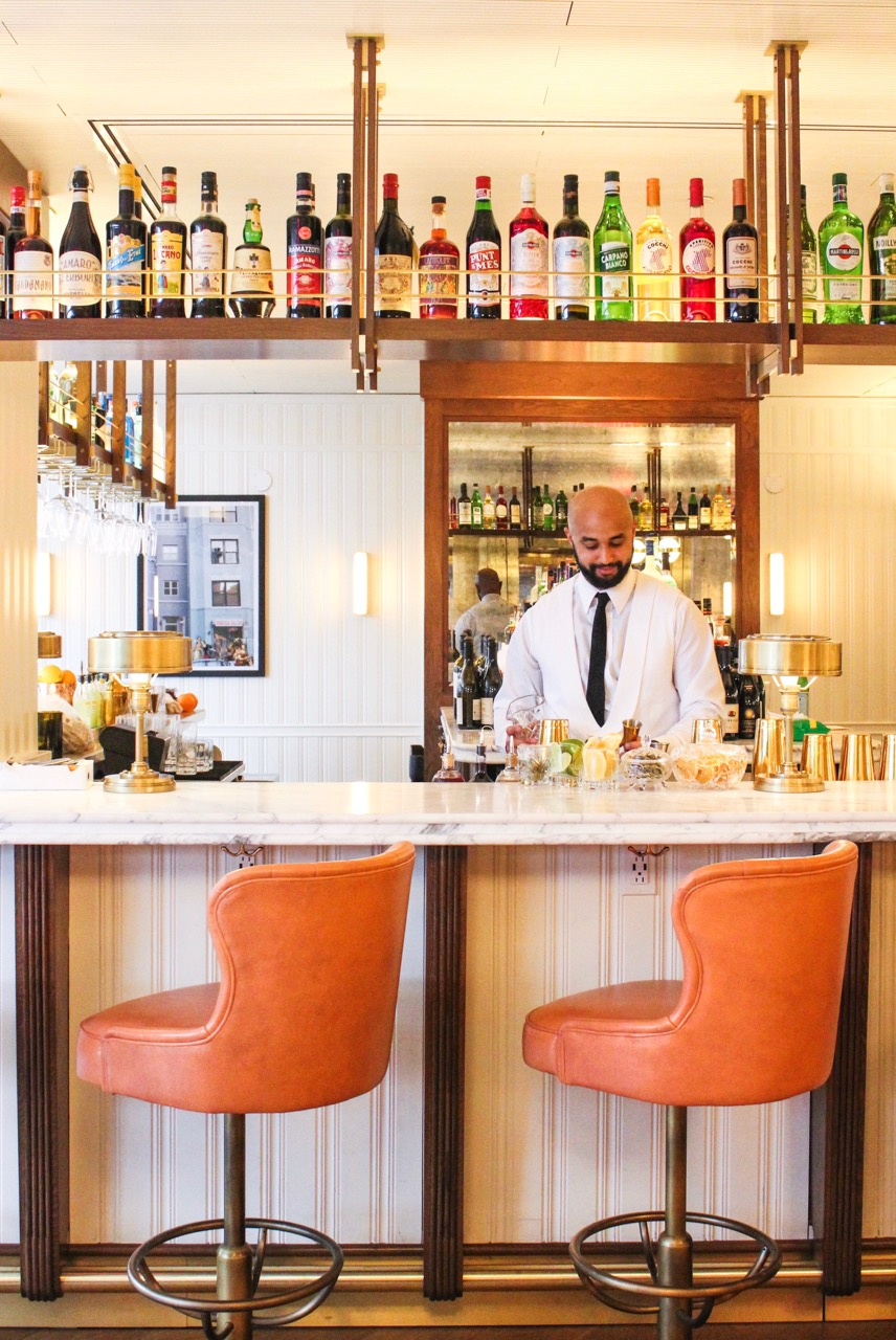 The Pembroke bar at The Dupont Circle hotel.{ }(Image: Courtesy  The Dupont Circle Hotel)