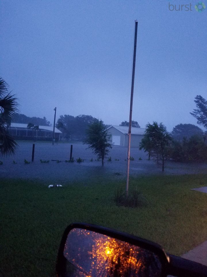 Flooding on 66th Avenue in Vero Beach./ Photo Credit: CBS Viewer