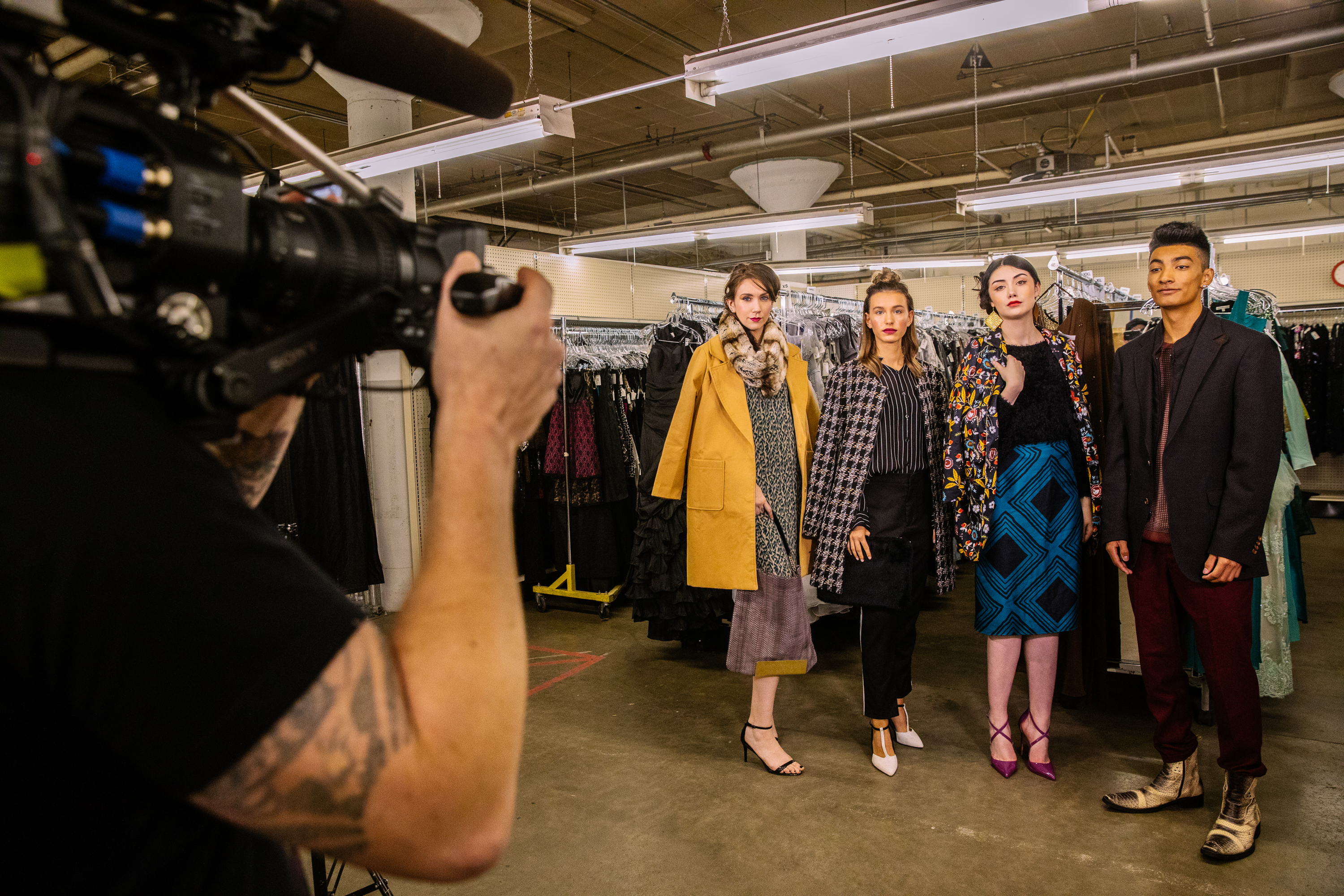From the runway to real life: you can score the hottest trends for fall at Seattle Goodwill. (Credit: Seattle Goodwill)