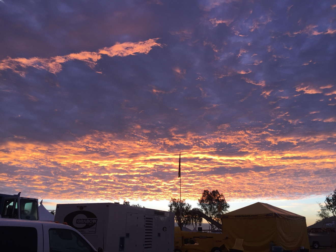 Sunrise before the storm in Tulare by Wendi Lane/KMPH 2-16-17