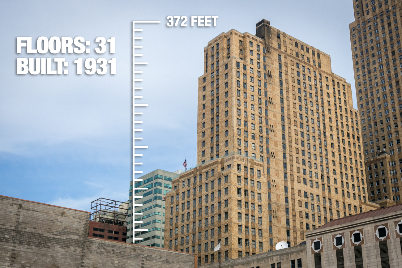 Netherland Plaza: 372 feet tall, 31 floors, built in 1931 / Image: Phil Armstrong, Cincinnati Refined // Published: 2.21.17