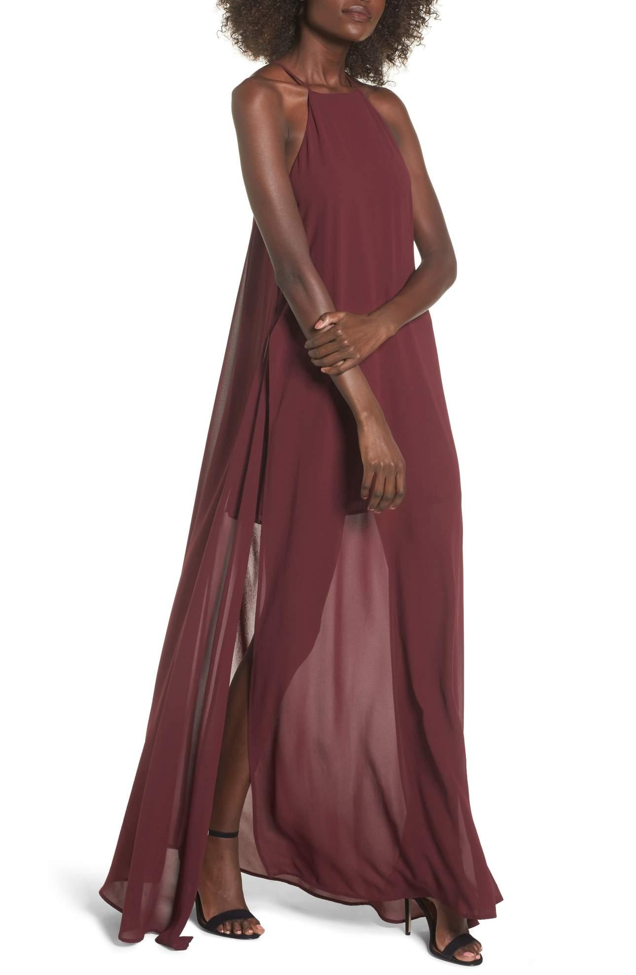 <p>Bronte Maxi Dress - $184-$198. Get all glammed up for NYE with this long/sheer maxi.{&amp;nbsp;} The color is on-point! (Image: Nordstrom){&amp;nbsp;}</p><p></p>
