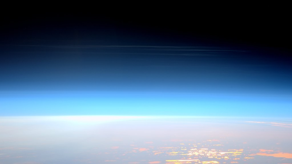 Astronaut snaps photos of 'night-shining' clouds on the edge of space