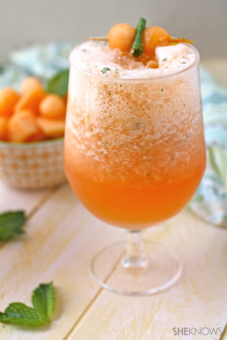 Canteloupe, Mint, and Campari Slushy. (Image: SHEKNOWS)