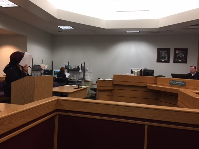 Shawntell Barlow, 41, of Battle Creek, was arraigned in Calhoun County District Court in Battle Creek on Wednesday, Dec. 6, 2017. (WWMT/Jessica Wheeler)