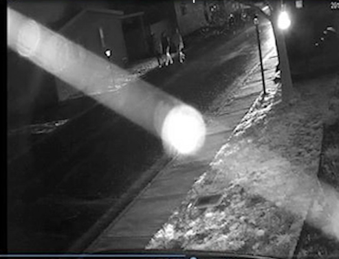 Mcloughlin Meadows neighborhood surveillance showing the three possible suspects in this crime. (COURTESY: Eagle Point Police Department)