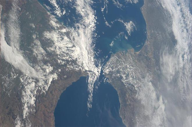 Strait of Gibraltar (Photo & Caption courtesy Koichi Wakata (@Astro_Wakata) and NASA)