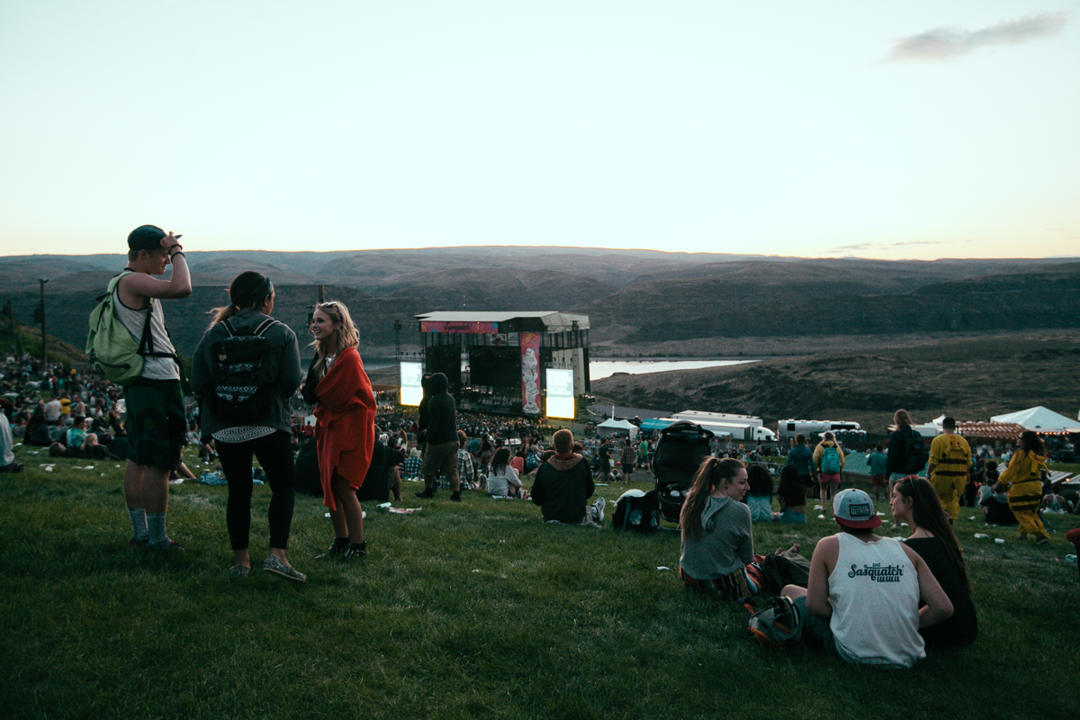 Tens of thousands of music fans come from all over the country to the Gorge Amphitheater in Washington State for the annual music festival. The festival runs from May 23rd-25th and features over a hundred bands. May 23rd 2014. (Joshua Lewis / Seattle Refined)