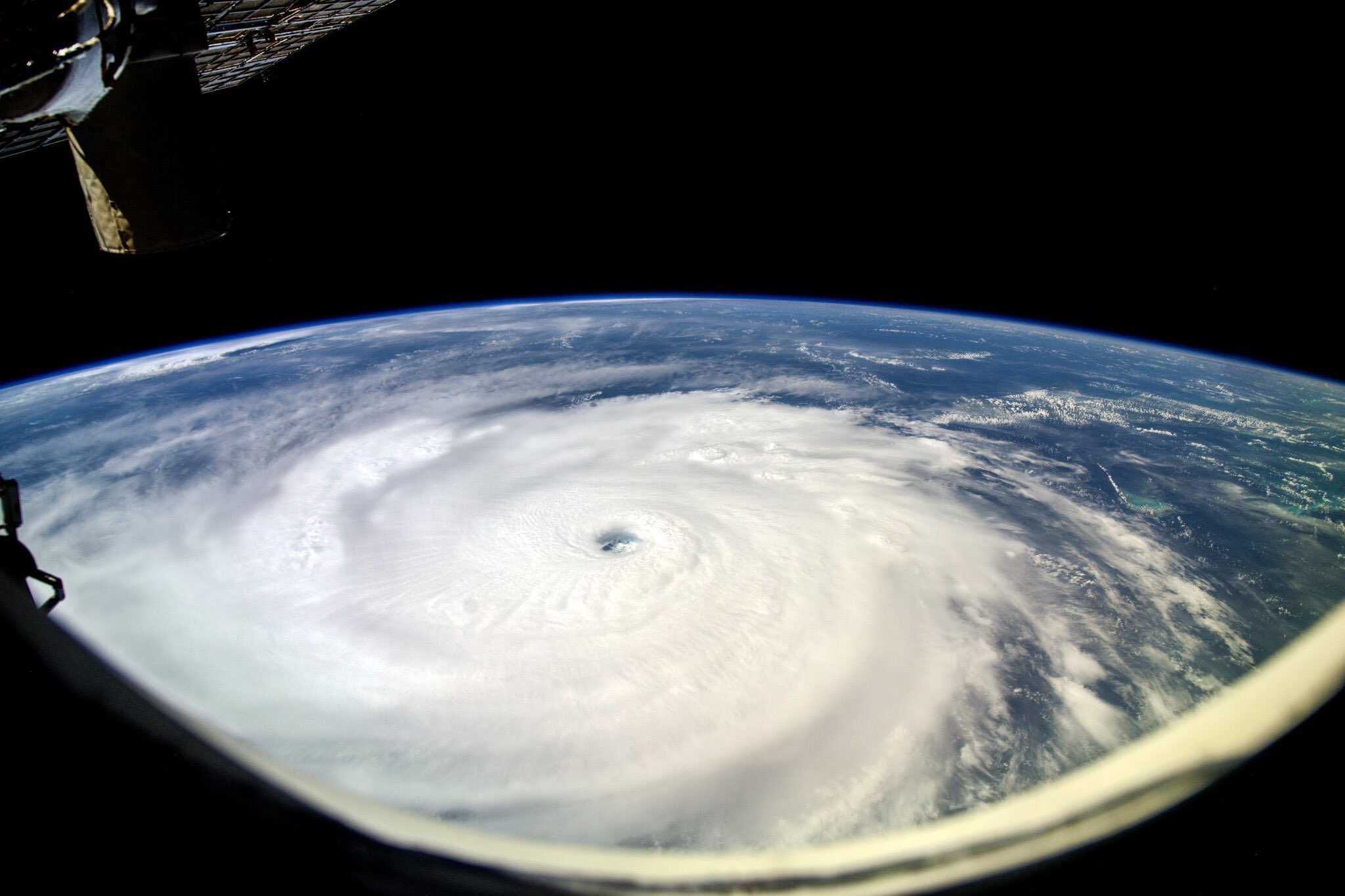 Photo of Hurricane Irma as seen from the International Space Station (Photo: Sergey Ryazansky/NASA)