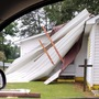 Reports of storm damage near Pembroke in Robeson County