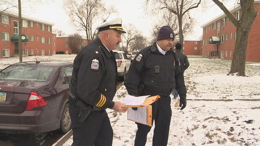 Families police go door-to-door at west Columbus apartments to cut down on crime