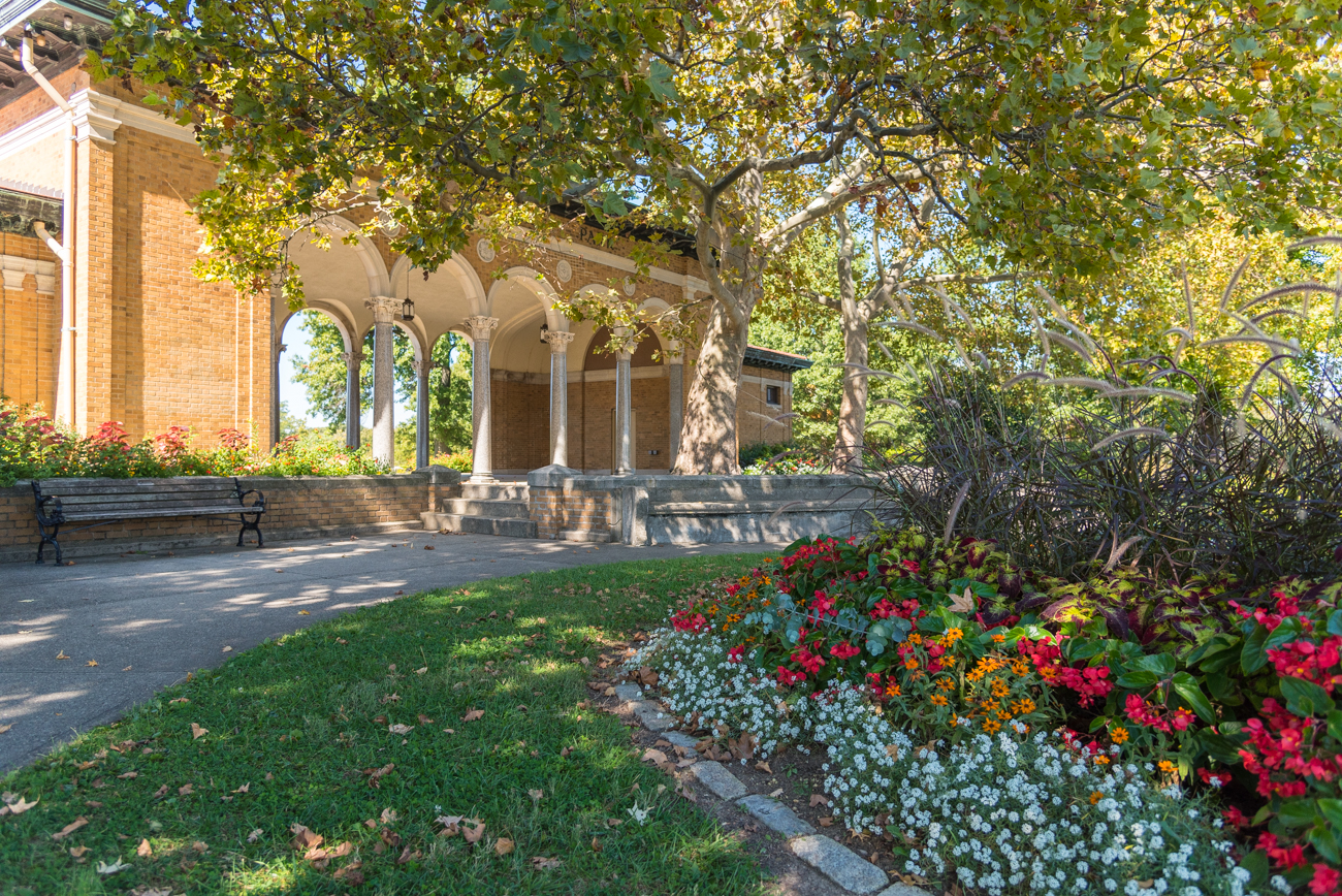PLACE: Mt. Echo Park / ADDRESS: 202 Crestline Ave, Cincinnati, OH (45205) / PRICE: free / Near the top of Price Hill sits Mt. Echo Park, an 84-acre public green space with rolling hills of grass and flowers, as well as a stunning 1928 Italian Renaissance pavilion overlooking the city to the East. With all the amenities of other city parks, Mt. Echo has an incredible view wholly unique to its location. / WEBSITE: cincinnatiparks.com / Image: Phil Armstrong // Published: 3.17.20