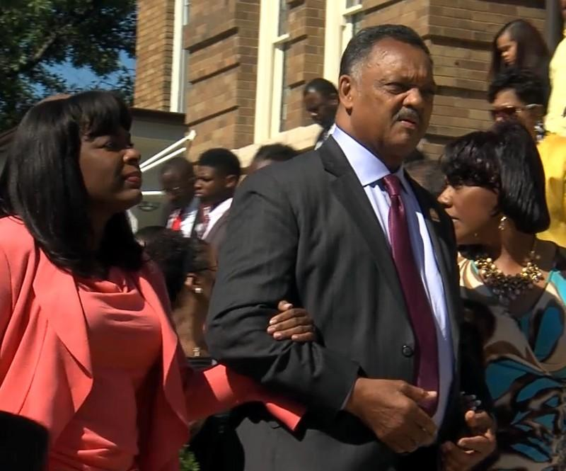 Rev. Jesse Jackson and Rep. Terri Sewell at 16th Street Baptist Church.