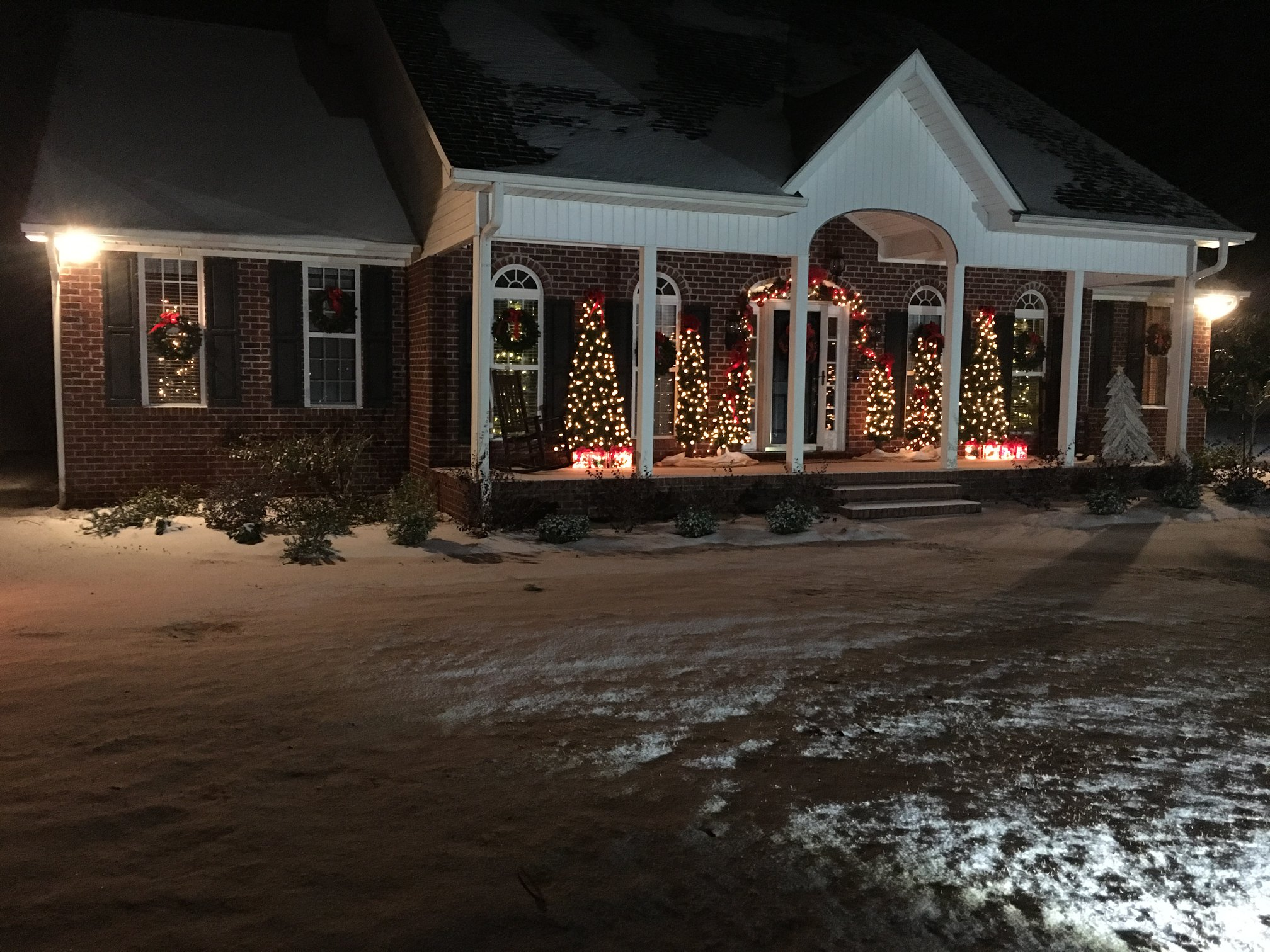 A winter wonderland of a house in Conway (Submitted by Robert Shelley)
