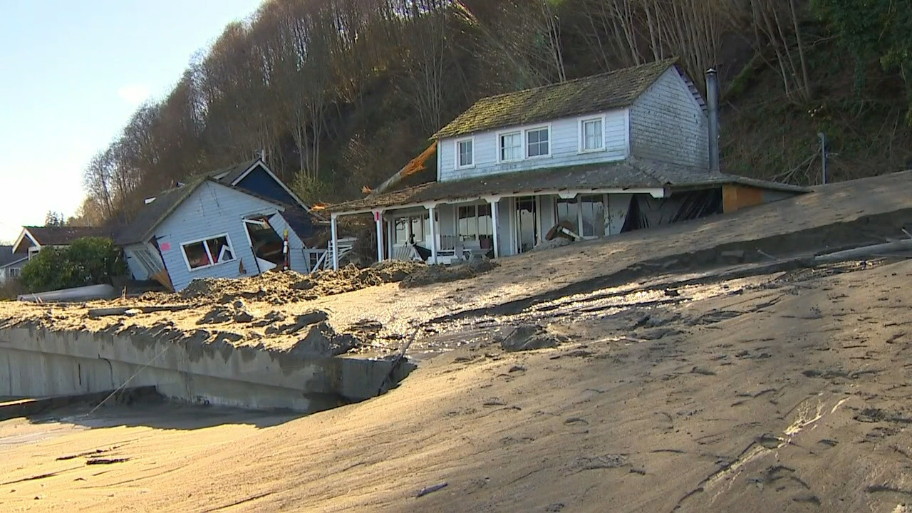 The heavy rain this week is a reminder that communities across Puget Sound can be susceptible to landslides. (Photo: KOMO News)