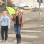 Two LHS seniors make crosswalk safer after young girl lost her life while crossing