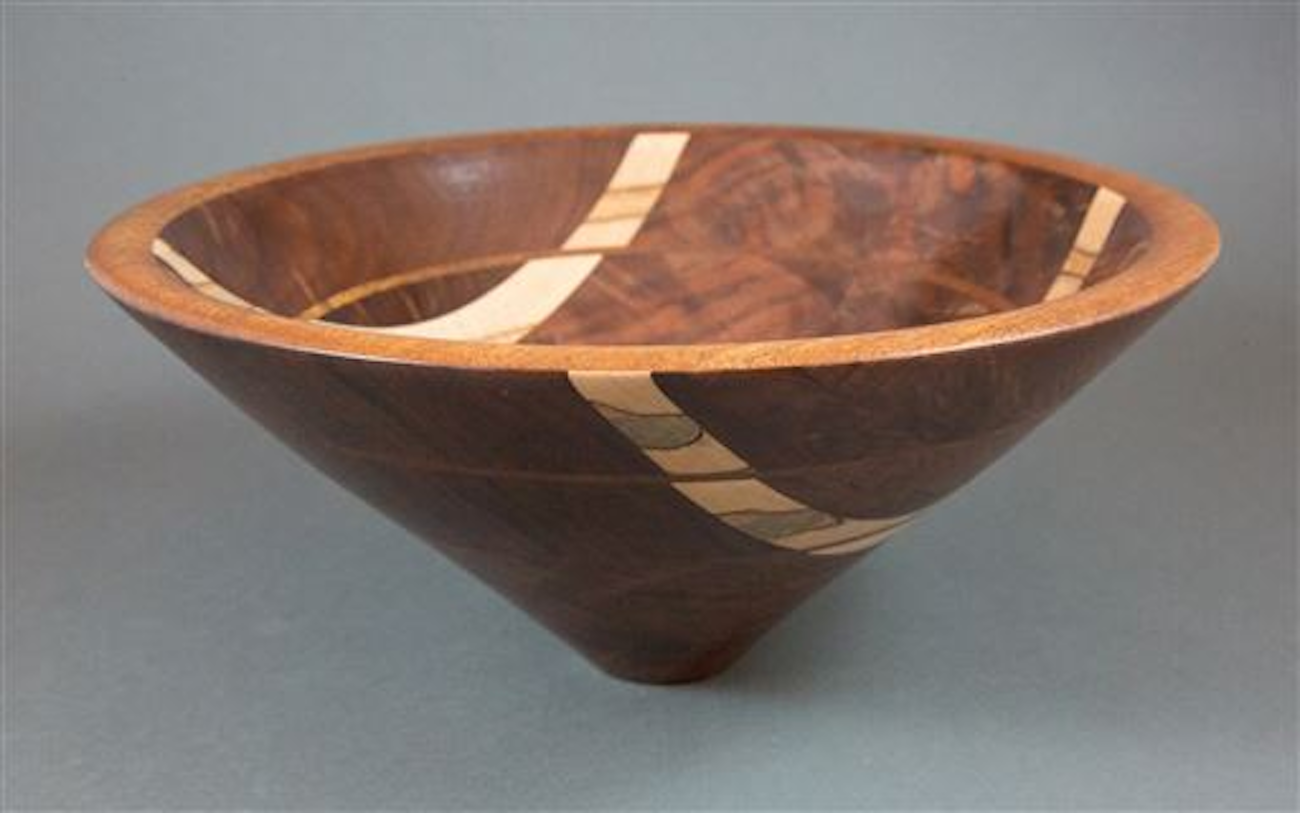Bowl by Cindy Cwi, who's been turning for seven years / Image courtesy of the Ohio Valley Woodturners Guild // Published: 4.18.19