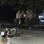 Motorcyclist transported to hospital following crash