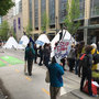 Seattle charges 'tipi' demonstrators who blocked downtown traffic