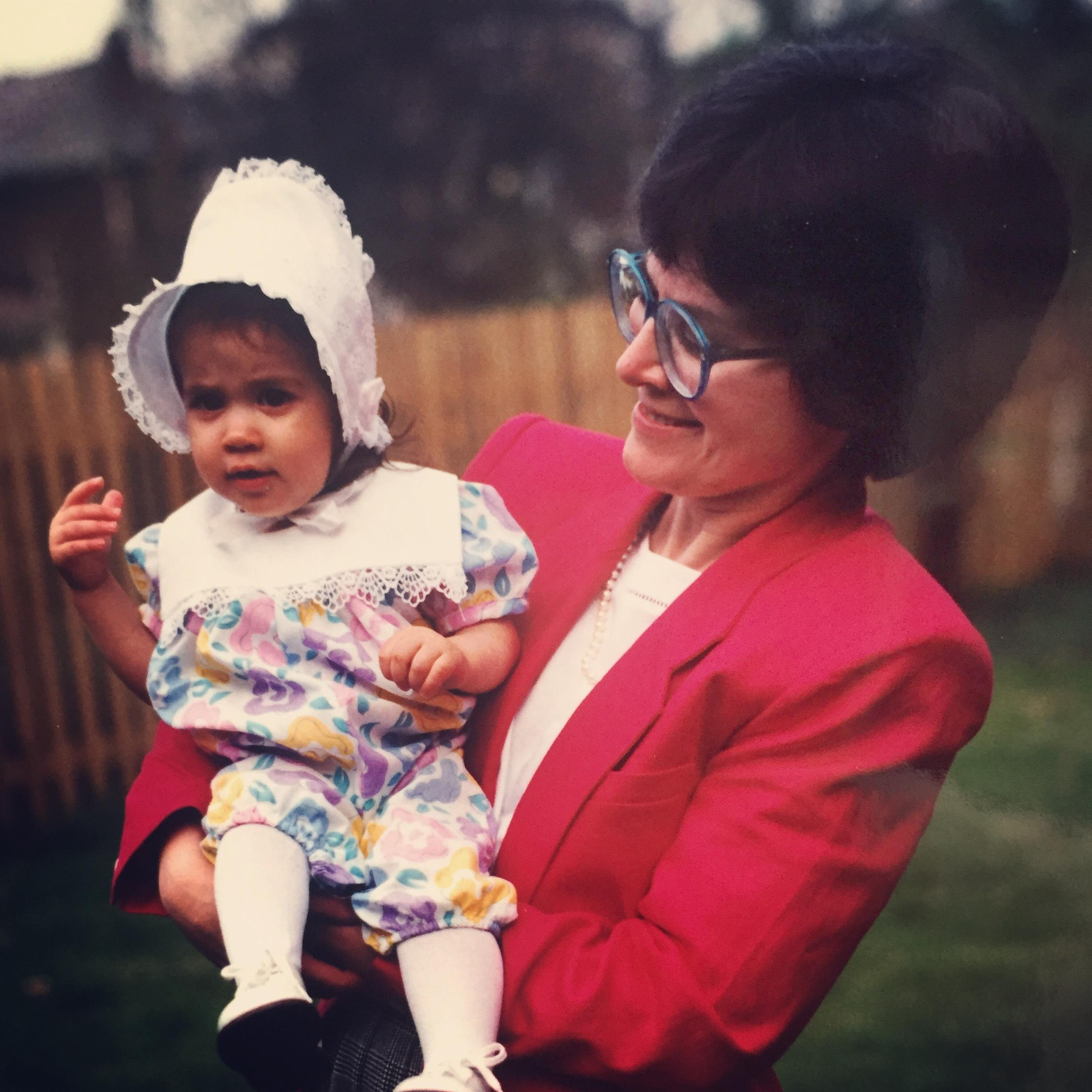 WSBT 22's Caroline Torie and her mom #Throwback