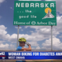 Woman with diabetes bikes through Omaha in journey across America