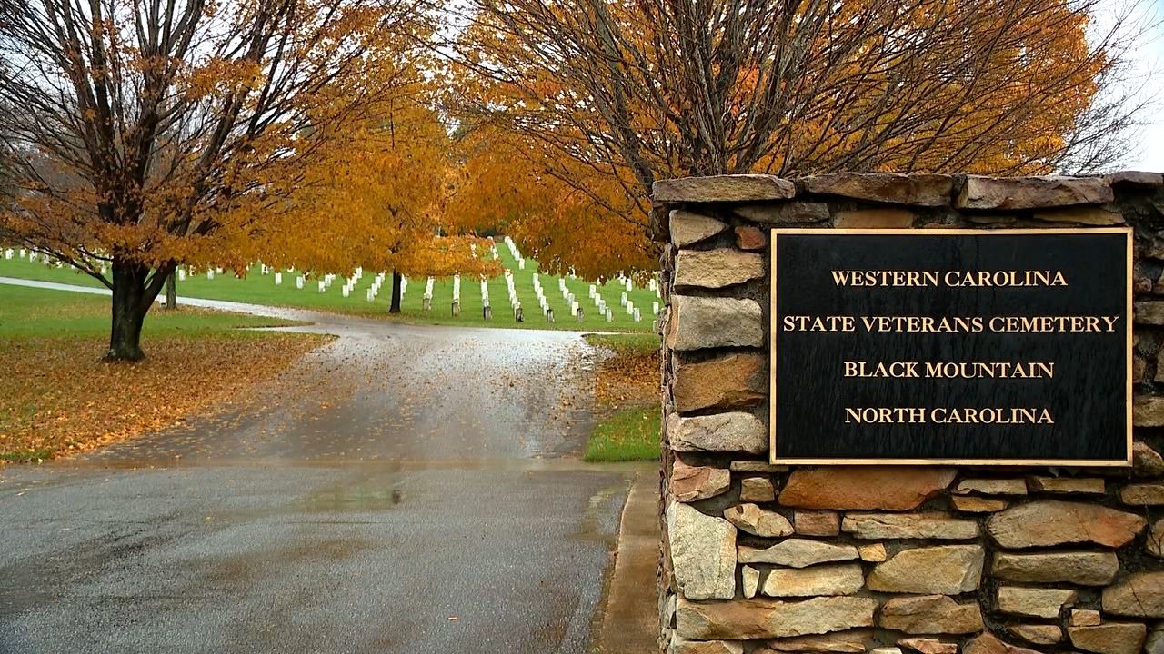 Nov. 11, 2020 - People visited the Western Carolina State Veterans Cemetery in Black Mountain this Veterans Day to honor those who served and have passed on. (Photo credit: WLOS Staff)