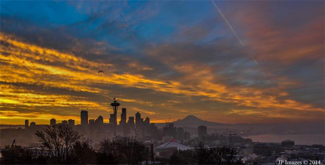Breathtaking Seattle Sunrise - Jeff Pond