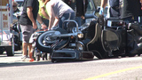Man injured in motorcycle wreck on exit ramp