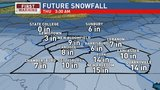 Latest projections show Central PA getting 8-12 inches of snow by end of storm