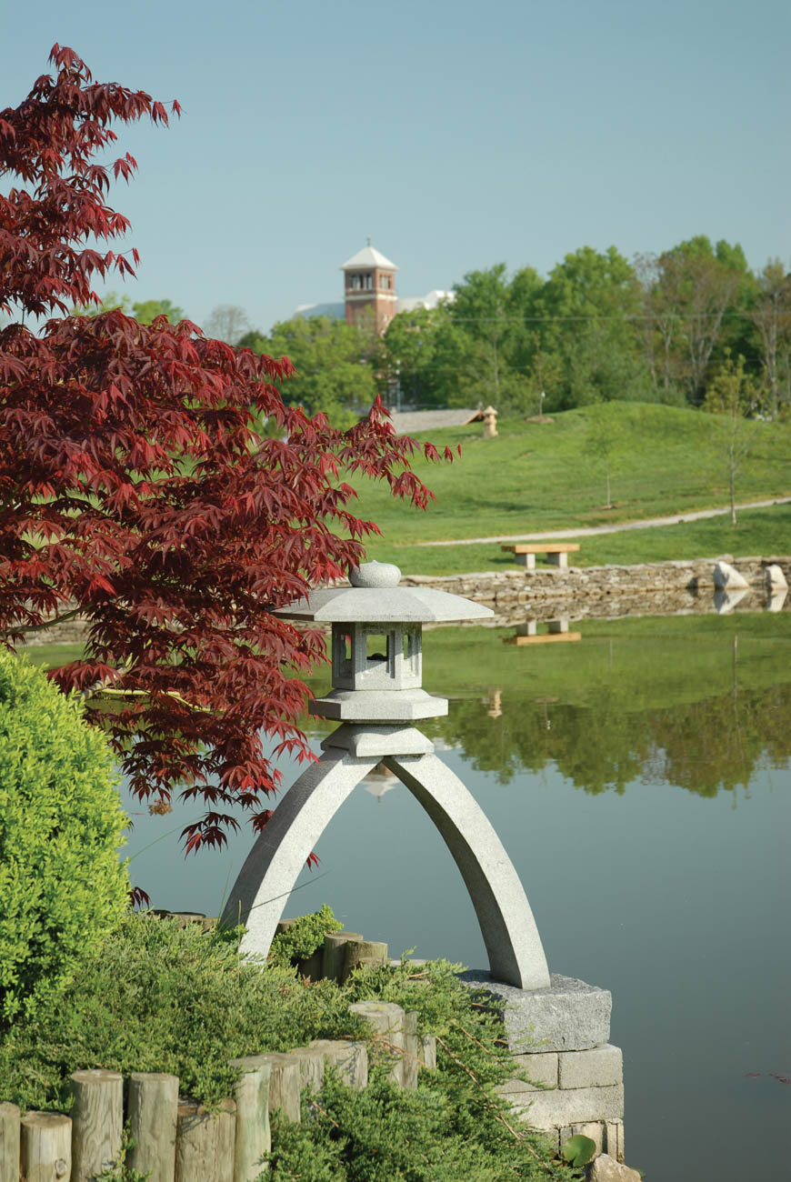 Yuko-En on the Elkhorn is an official Kentuck-Japanese Friendship Garden. The 6-acre park designed to look like an authentic Japanese strolling garden. / Image courtesy of Georgetown/Scott County Tourism // Published: 11.1.18