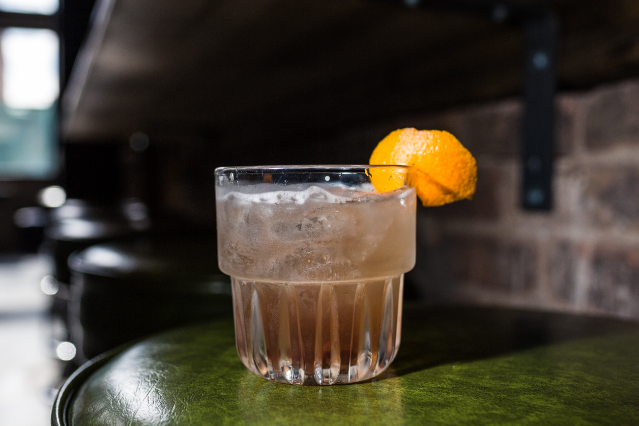 Tequila Olde Fashioned (draft): Weller bourbon barrel aged tequila, cherry, orange, mole bitters,  and soda / Image: Catherine Viox // Published: 4.7.19