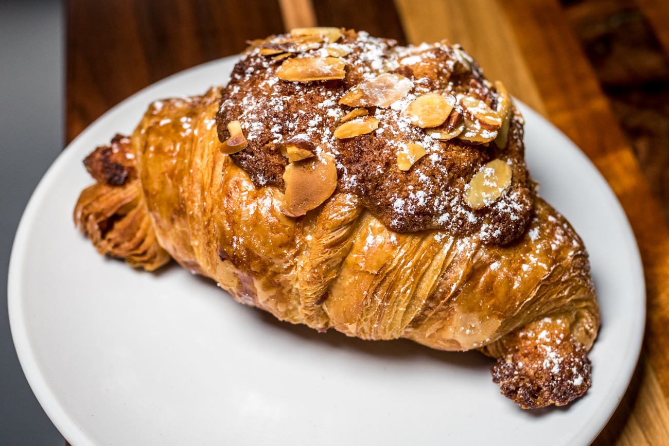 An almond croissant from North South Baking Co. / Image: Catherine Viox // Published: 8.5.20