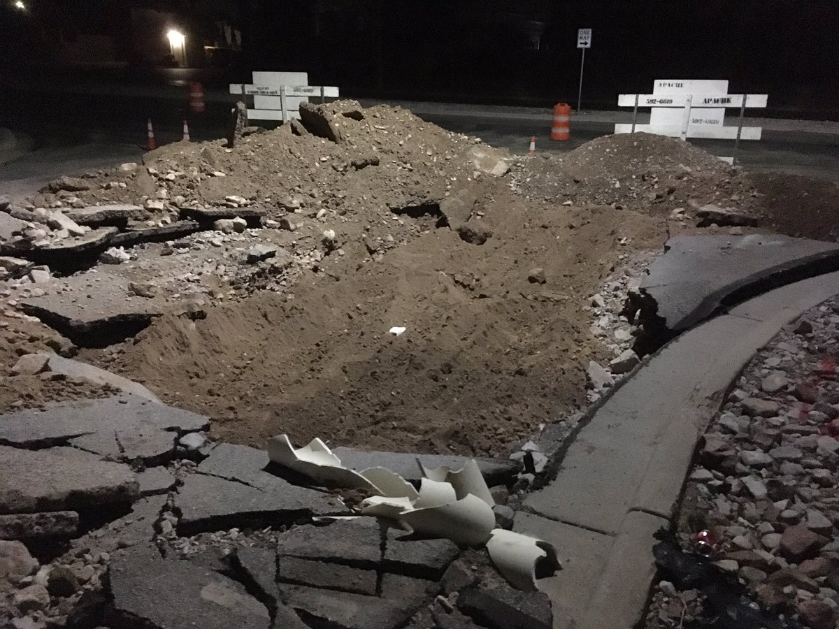 Sink hole at Westwind and Isla Del Rey drives
