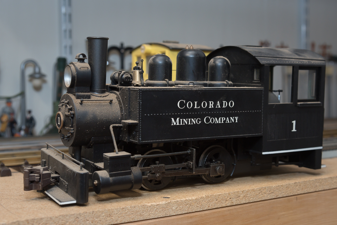 A very old, larger-scale model train that awaits repair in the workshop / Image: Phil Armstrong, Cincinnati Refined // Published: 2.27.20