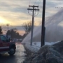 Water main break in North Greenbush