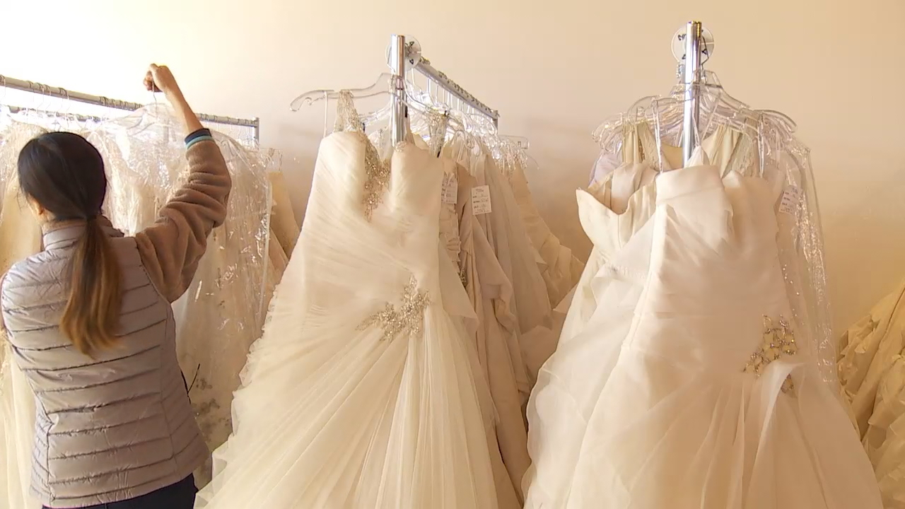 """Operation Wedding Gown"" is giving military and first responder brides in Puget Sound a chance to take home a free wedding dress. Brides For a Cause in Tacoma is one of 60 stores nationwide participating in the national giveaway. Now through November 19, brides can register and pick out a gown at the local bridal salon. (Photo: KOMO News)"