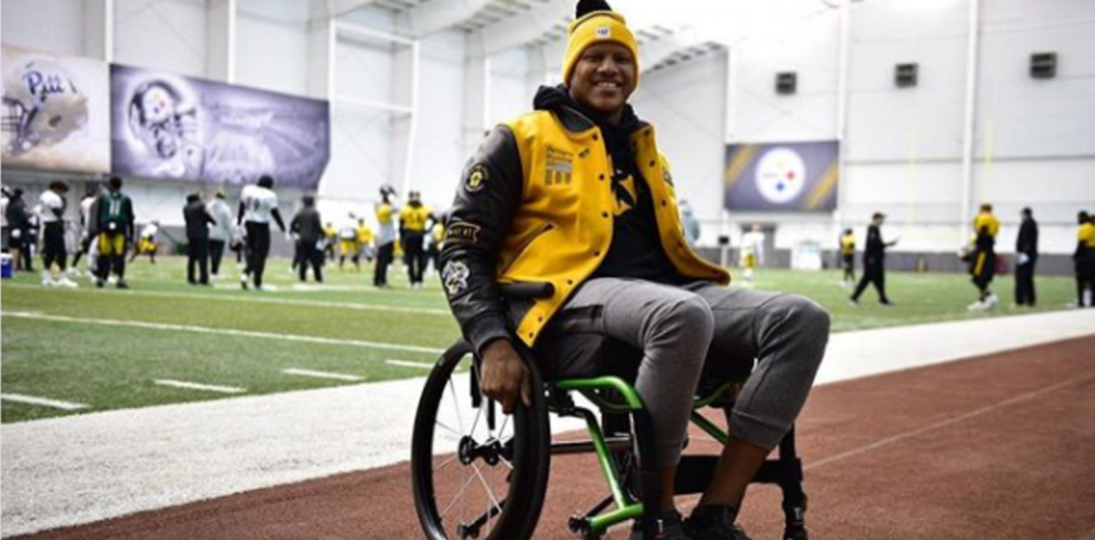 Ryan Shazier in wheelchair Instagram.png