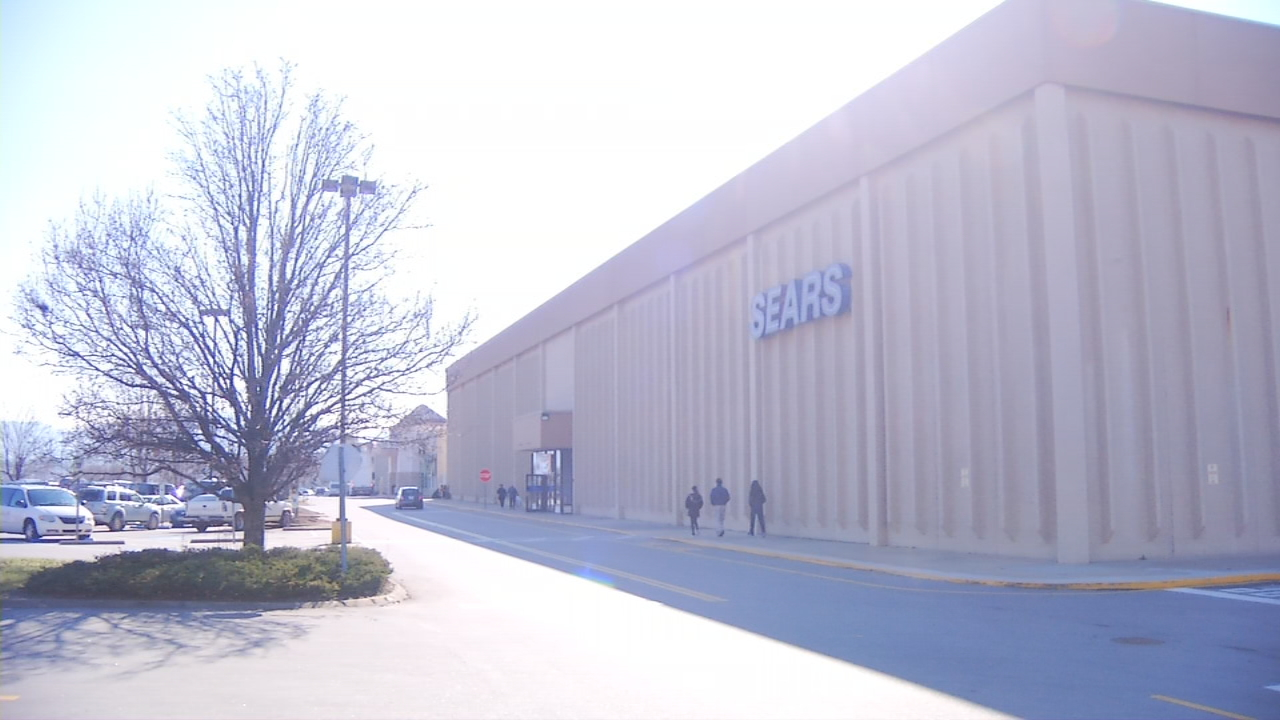An application for redevelopment plans of the Sears property at the Asheville Mall have been submitted, which could bring apartments to the area. (Photo credit: WLOS Staff)