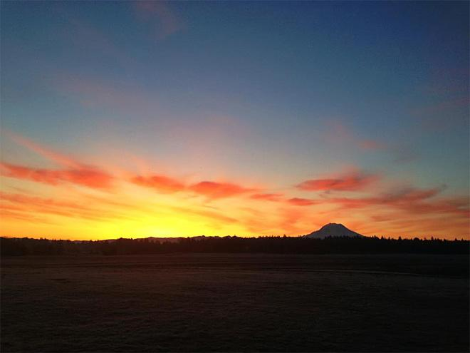 Sunrise from McChord Field (Photo Courtesy: James Campbell)